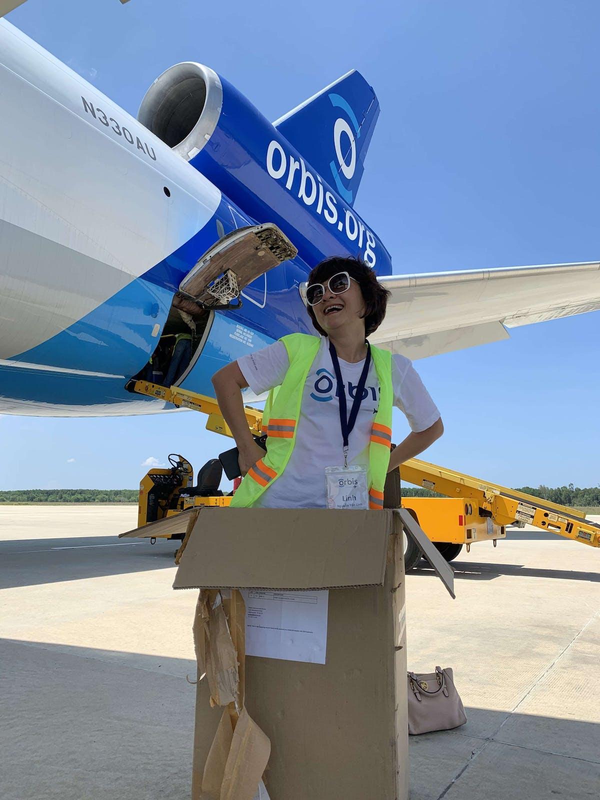 Packing up the Orbis Flying Eye Hospital in Vietnam