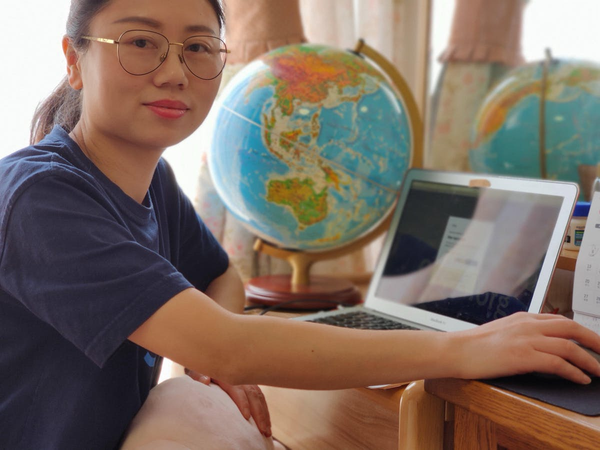 Nurse Xiao Ying Liu training nurses in infection control globally from her home in Wuhan, China
