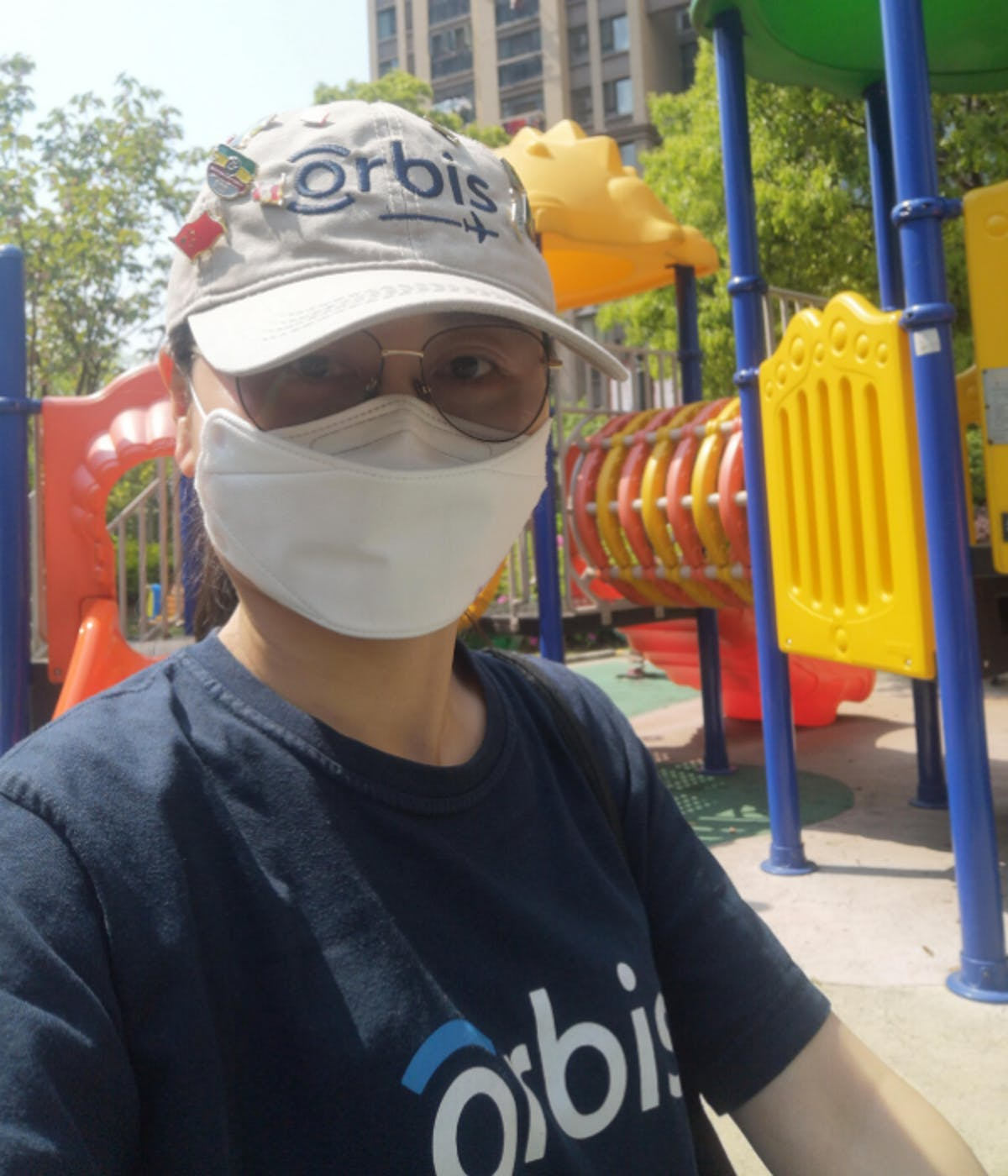 Orbis Nurse Xiao Ying Liu wearing a protective mask in Wuhan, China amid Covid_19 global outbreak