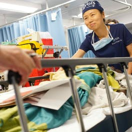 Flying Eye Hospital Nurse Xiao Ying Liu pictured on our training project in Barbados