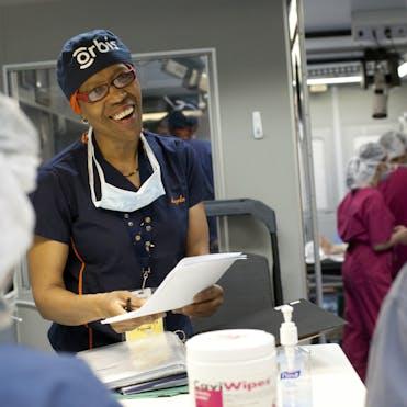 Angela Purcell trains nurses aboard the Flying Eye Hospital