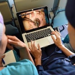 Angela Purcell trains nurses aboard the Flying Eye Hospital in Peru