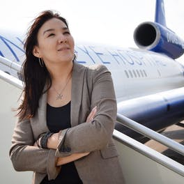 Bulgan joined the team for a Flying Eye Hospital mission to her home country, Mongolia