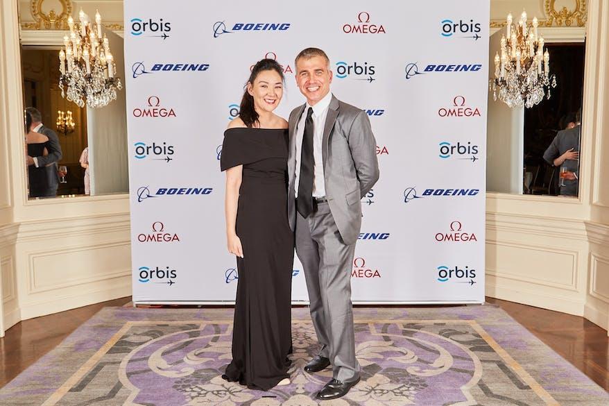 Bulgan Orgilsaikhan Hunter Cherwek pictured at an Orbis Gala