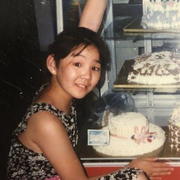 Bulgan as a young girl