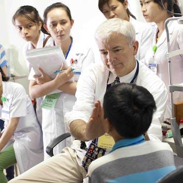 Dr. Doug Fredrick, Orbis volunteer faculty in Hue, Vietnam, 2015