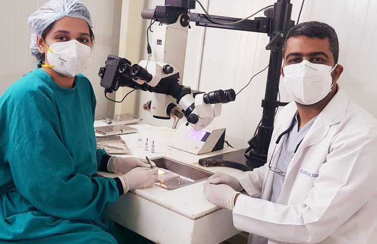 Dr. Javed Farooqui at Dr. Shroff's Charity Eye Hospital in India