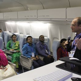 Dr. Peter Kertes trains ophthalmolgists in Bangladesh as part of a Flying Eye Hospital program in 2017
