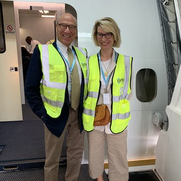 Ken and Ingrid Youngstein on the Flying Eye Hospital in Myanmar