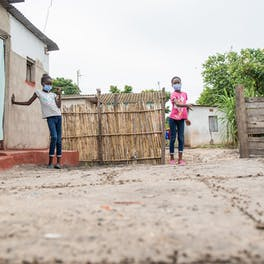 Shekaina Mildith and Stephanie are triplets living in Mufurila, Zambia