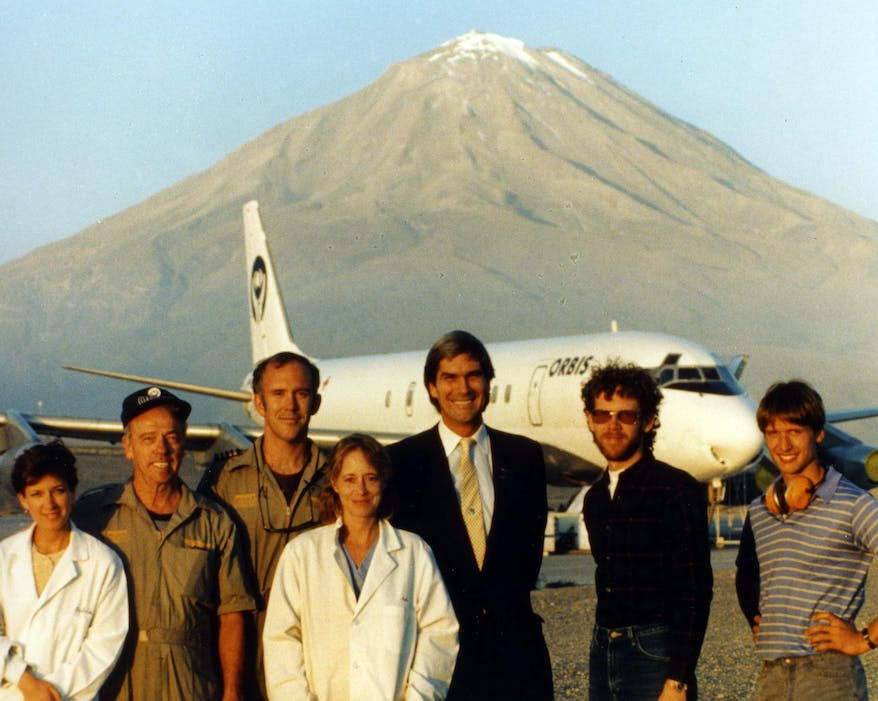 The very first DC-10 Flying Eye Hospital in 1982