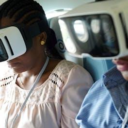 Virtual reality on the flying eye hospital.