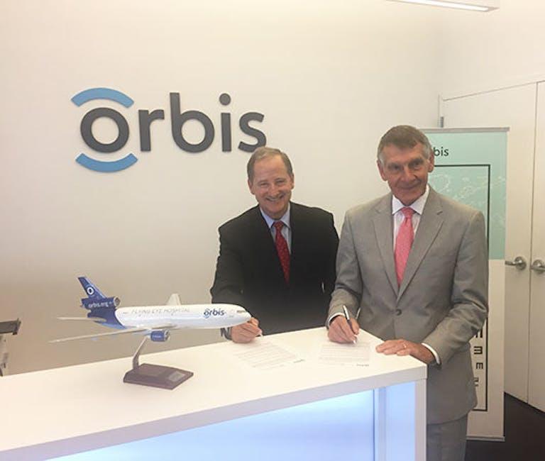 Orbis sign NECO partnership deal.